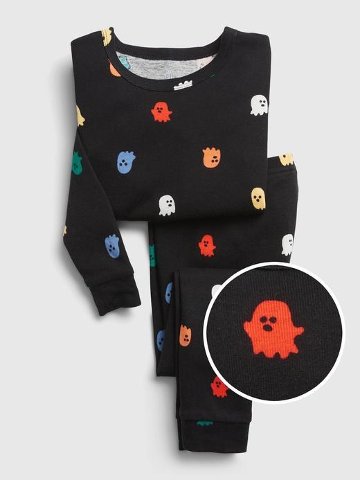 Kız Bebek Siyah %100 Organik Pamuk Grafik Baskılı Pijama Seti