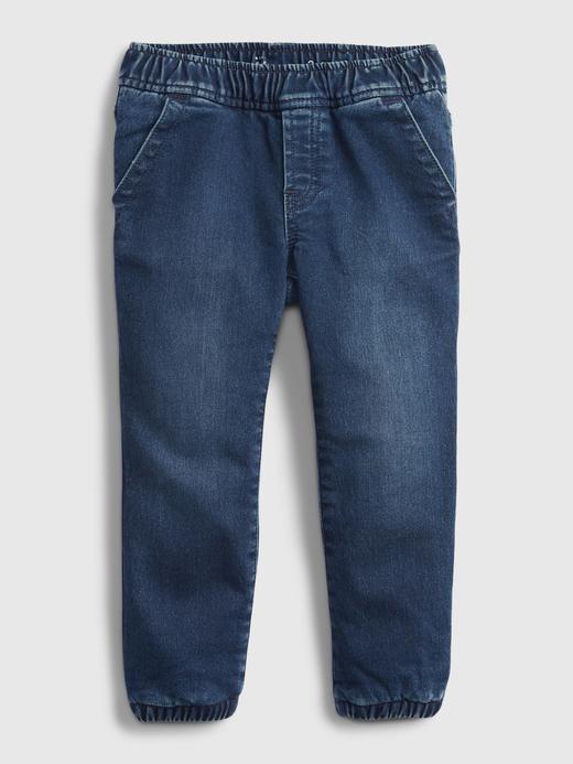 Erkek Bebek Lacivert Astarlı Denim Washwell™ Jogger Pantolon