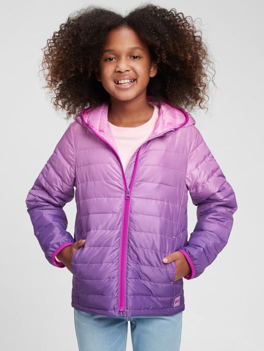Kız Çocuk Pembe %100 Geri Dönüştürülmüş ColdControl Puffer Şişme Mont