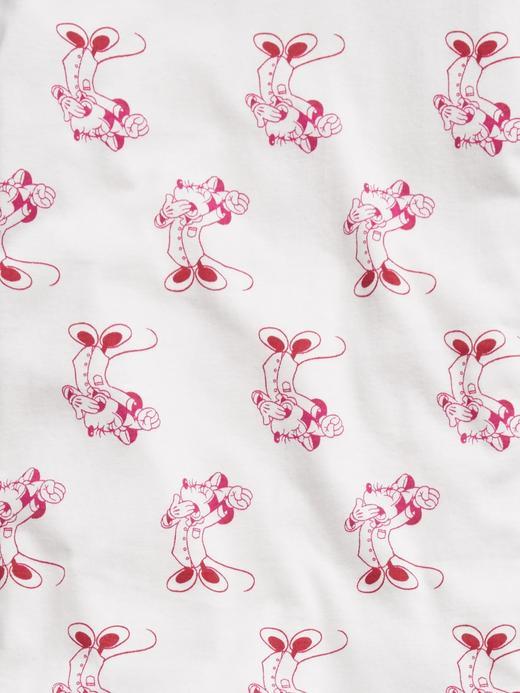 Kız Çocuk Beyaz %100 Organik Pamuk Disney Minnie Mouse Pijama Seti