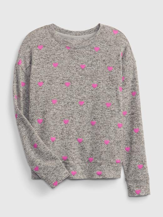 Kız Çocuk gri Çapraz Sırt Detaylı T-Shirt