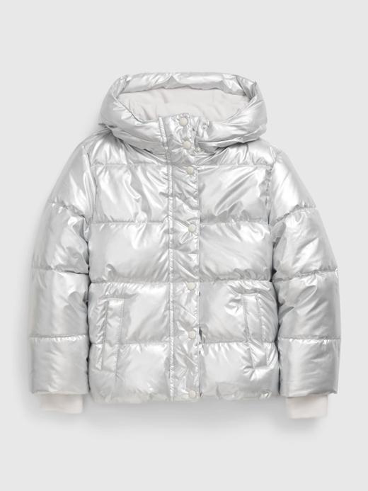 Kız Çocuk Beyaz ColdControl Ultra Maxi Puffer Şişme Mont