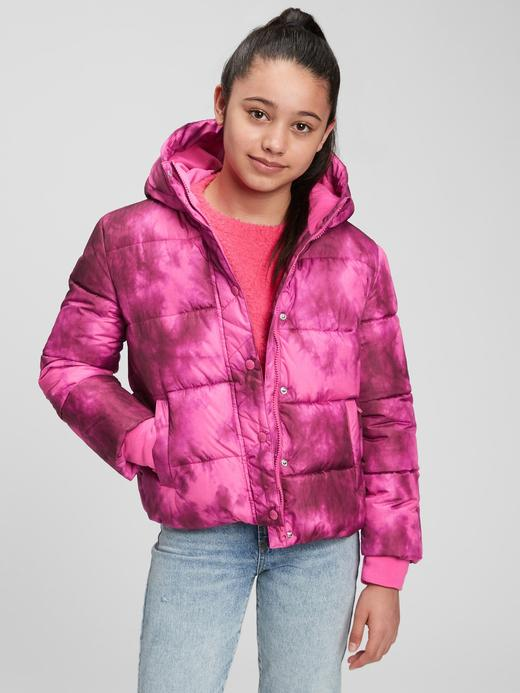Kız Çocuk pembe ColdControl Ultra Maxi Puffer Şişme Mont