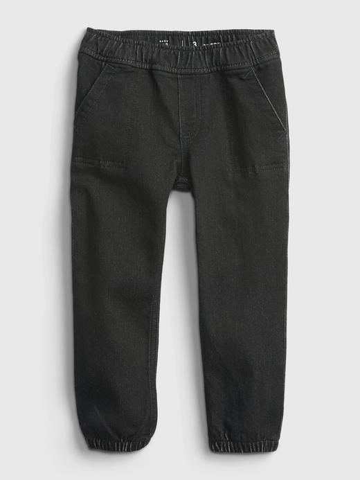 Erkek Bebek siyah Jogger Denim Pantolon