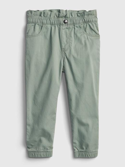 Kız Bebek Yeşil Fırfırlı Pull On Jogger Pantolon