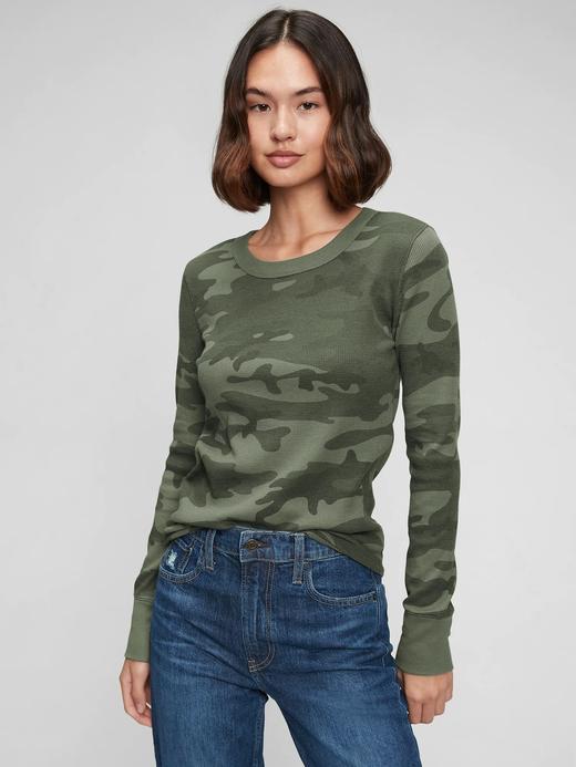 Kadın Yeşil Waffle Örgü T-Shirt
