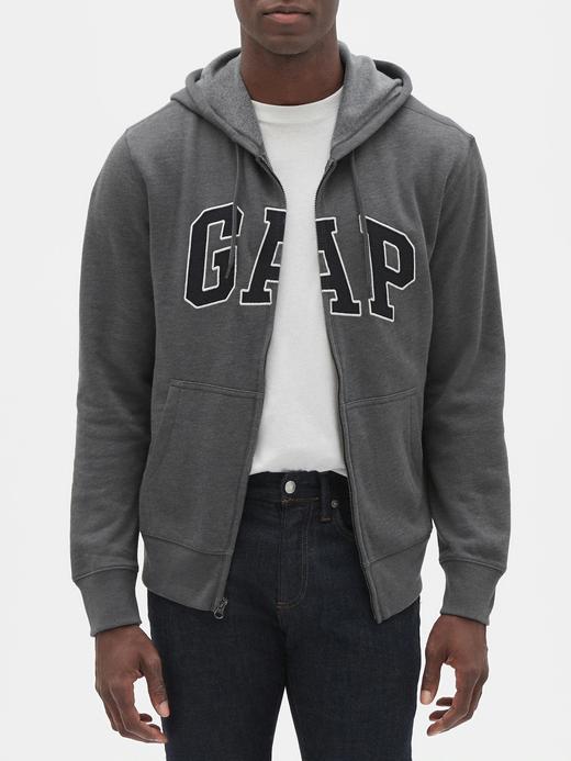 Erkek gri Gap Logo Fermuarlı Sweatshirt