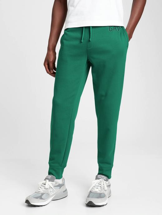 Erkek Yeşil Gap Logo Yumuşak Dokulu Jogger Eşofman Altı