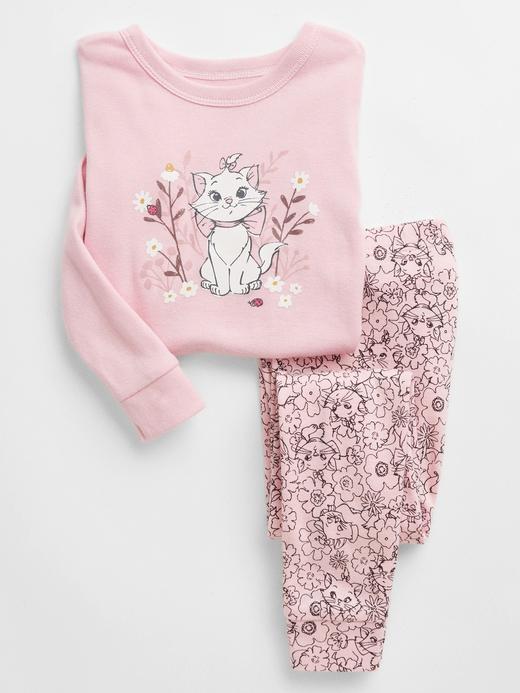 Kız Bebek Pembe %100 Organik Pamuk Disney Aristocats Pijama Seti