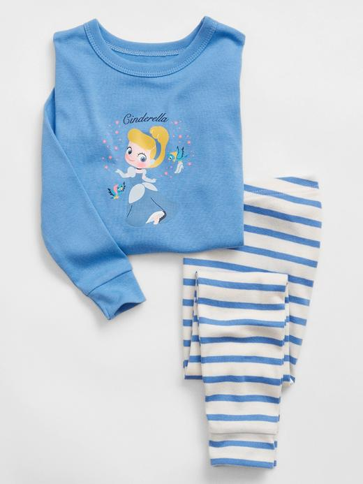 Kız Bebek mavi %100 Organik Pamuk Disney Princess Pijama Seti