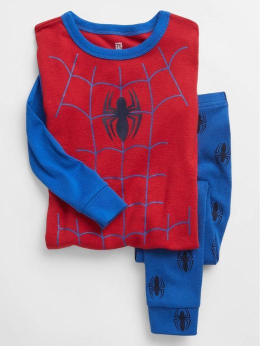 Kız Bebek kirmizi %100 Organik Pamuk Marvel Pijama Seti