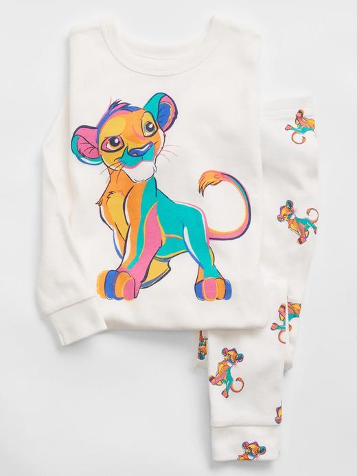 Kız Bebek Beyaz %100 Organik Pamuk Disney The Lion King Pijama Seti