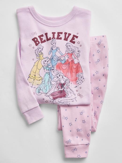 Kız Bebek pembe %100 Organik Pamuk Disney Princess Pijama Seti