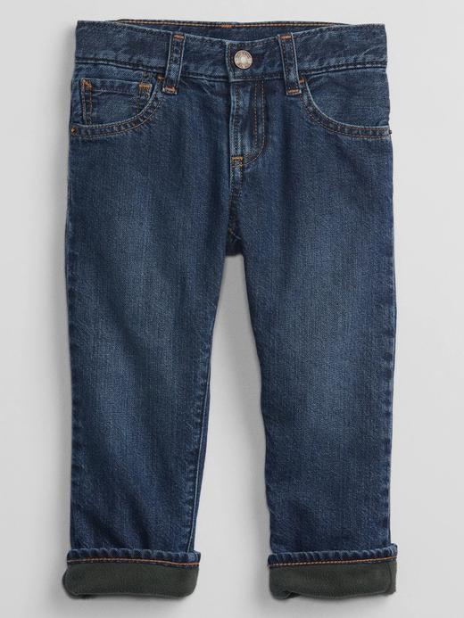 Erkek Bebek Lacivert Polar Astarlı Straight Washwell® Jean Pantolon