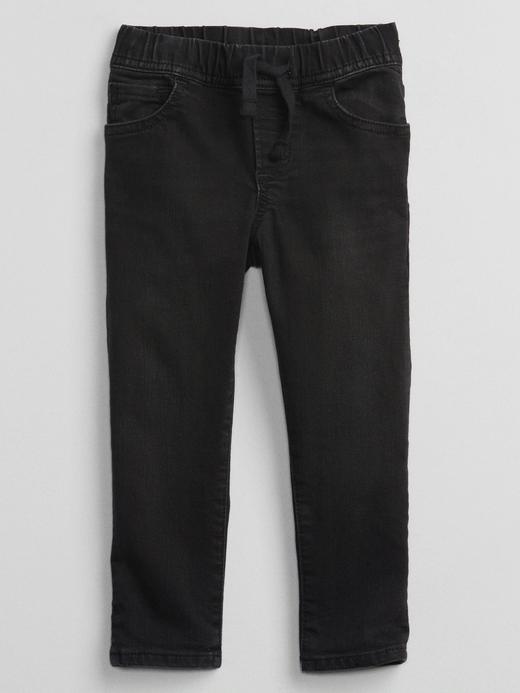 Erkek Bebek Siyah Slim Pull On Washwell® Jean Pantolon