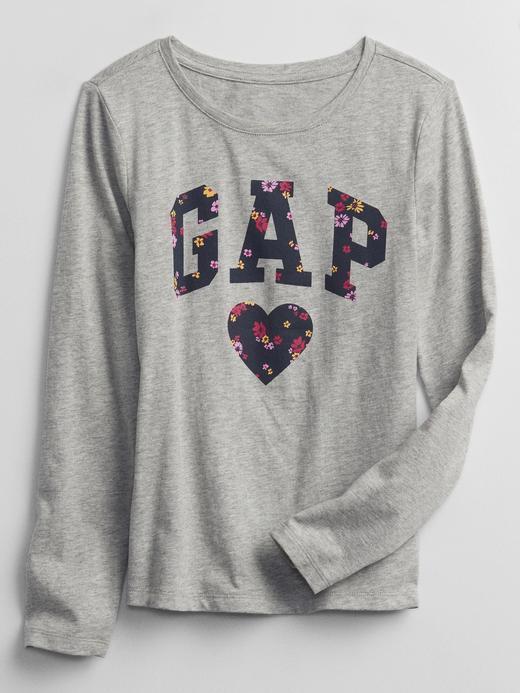 Kız Çocuk gri Grafik Baskılı T-Shirt