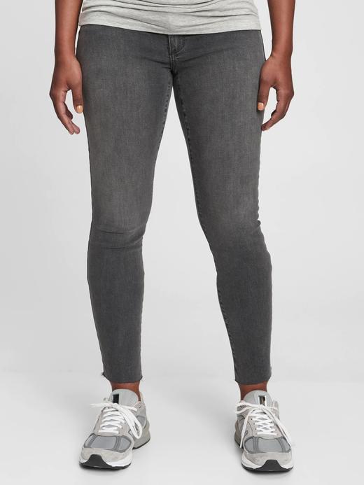 gri Maternity Inset Panel Skinny Jean Pantolon