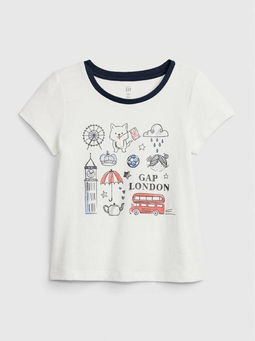 Kız Bebek Yeşil Gap Logo T-Shirt