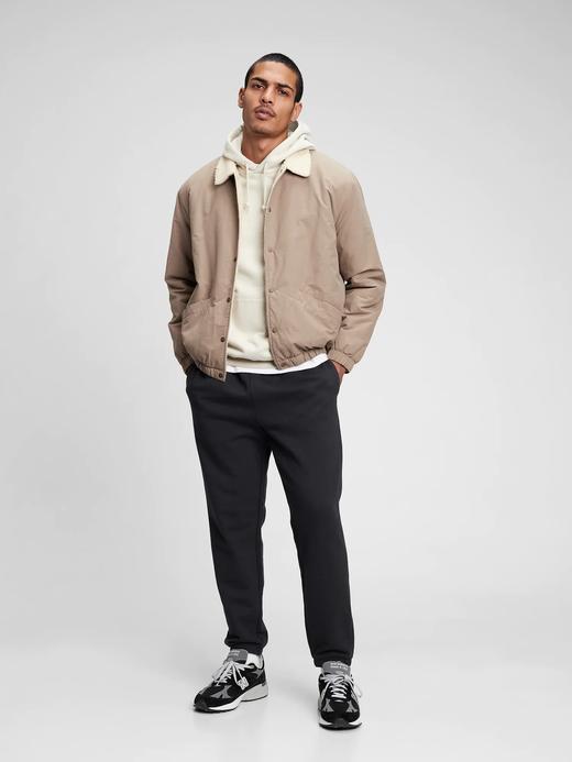 Erkek Bej Sherpa Coach Ceket