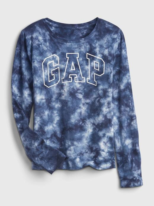 Kız Çocuk mavi 100% Organik Pamuk Gap Logo T-Shirt