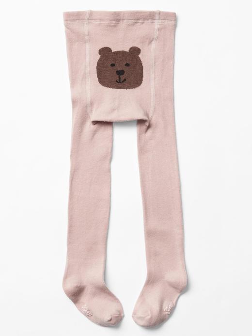 Bebek pembe Brannan Bear Desenli Külotlu Çorap