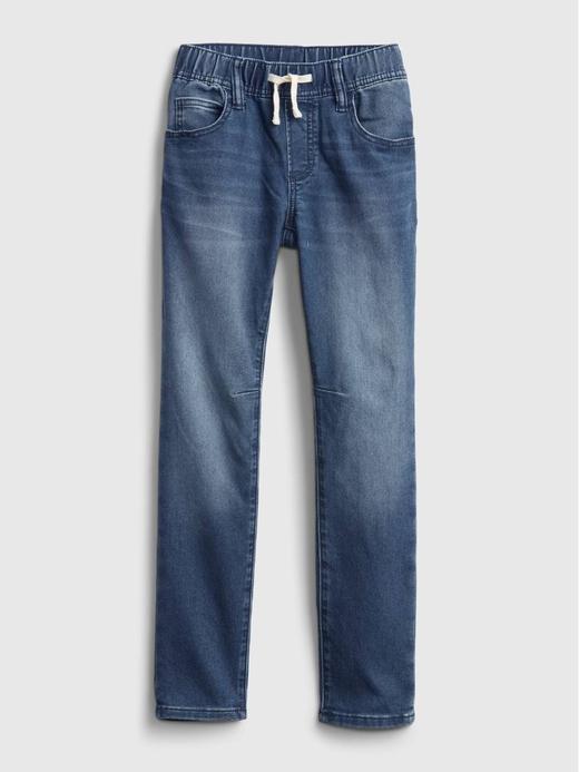 Erkek Çocuk Mavi Slim Pull On Deim Pantolon