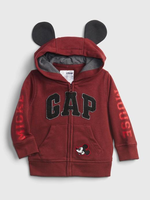Erkek Bebek Kırmızı Gap Logo Disney Mickey Mouse Sweatshirt