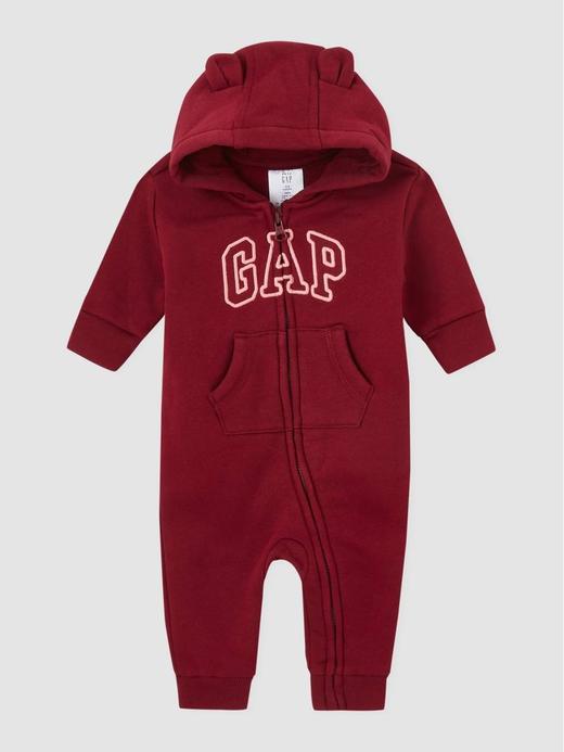 Kız Bebek kirmizi Gap Logo Kapüşonlu Tulum