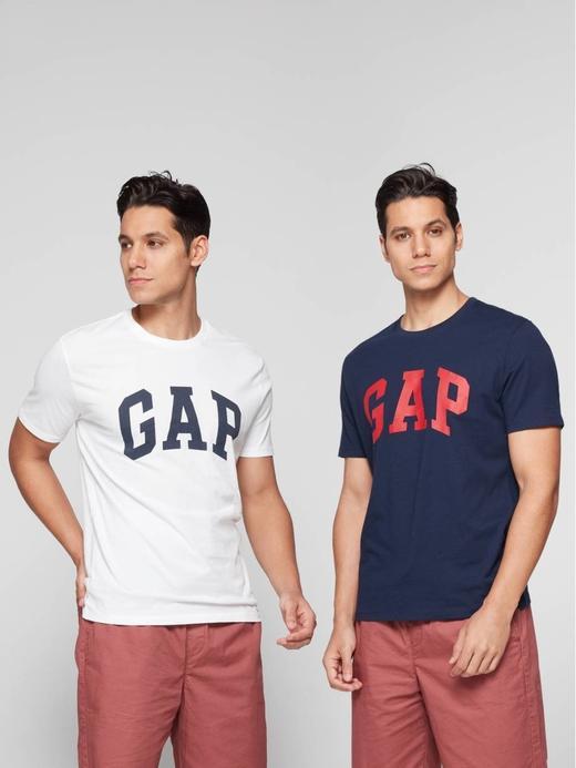 Erkek beyaz 2'li Gap Logo T-Shirt
