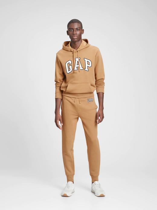 Erkek Kahverengi Gap Logo Yumuşak Dokulu Jogger Eşofman Altı